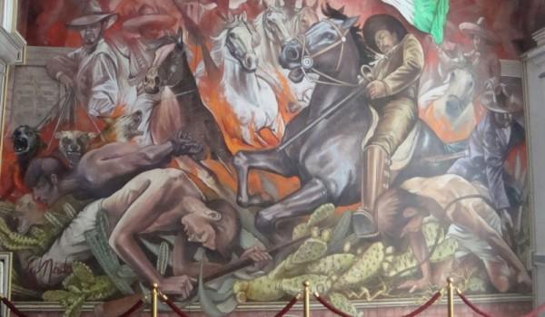 Uno de los morales de la sede del Tribunal Superior de Justicia en Toluca (Foto: Eli García).